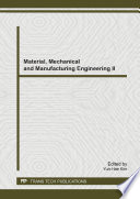 Material Mechanical And Manufacturing Engineering Ii