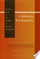 California Earthquakes Book PDF