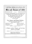 Men And Issues Of 1904 Book