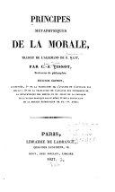Principes métaphysiques de la morale
