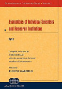 Evaluations Of Individual Scientists And Research Institutions Book PDF
