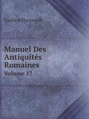 Pdf Manuel Des Antiquit?s Romaines Telecharger