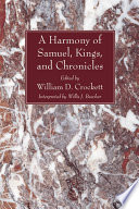 A Harmony Of The Books Of Samuel Kings And Chronicles