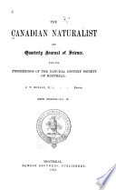 Canadian Naturalist And Quarterly Journal Of Science