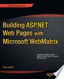 Building ASP.NET Web Pages with Microsoft WebMatrix