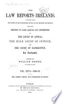 The Law Reports  Ireland  Book