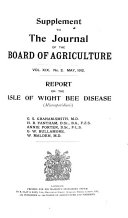 Supplement to the Journal of the Board of Agriculture