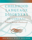 Childhood Language Disorders in Context Book