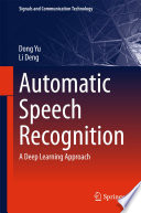 Automatic Speech Recognition Book PDF