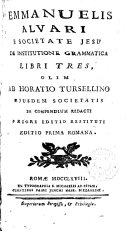 De Institutione Grammatica Libri Tres