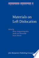 Materials on Left Dislocation
