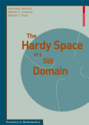 The Hardy Space of a Slit Domain [Pdf/ePub] eBook