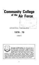 Community College of the Air Force General Catalog