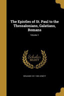 Epistles Of St Paul To The The
