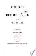 Catalogue de la bibliothèque de la ville de Lille