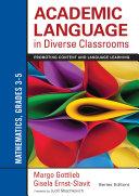 Academic Language in Diverse Classrooms  Mathematics  Grades 3  5