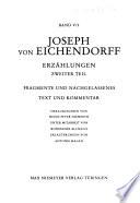 Samtliche Werke Des Freiherrn Joseph Von Eichendorff