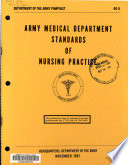 Army Medical Department Standards Of Nursing Practice