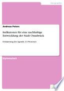 Indikatoren für eine nachhaltige Entwicklung der Stadt Osnabrück