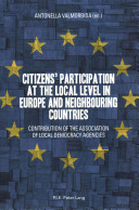 Citizens  Participation at the Local Level in Europe and Neighbouring Countries