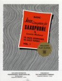 Basic Jazz Conception for Saxophone Volume 1 W/cd