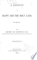 A Journey to Egypt and the Holy Land  in 1869 1870