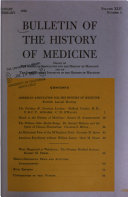 Bulletin of the History of Medicine