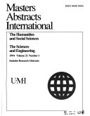 Masters Abstracts International Book
