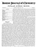 Boston Journal of Chemistry and Popular Science Review