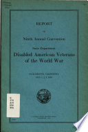 Report of the ... Annual Convention of the State Department Disabled American Veterans of the World War