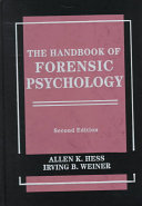 The Handbook Of Forensic Psychology Book PDF