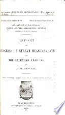 Report of Progress of Stream Measurements for the Calendar Year  1902