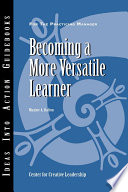 Becoming A More Versatile Learner Book PDF