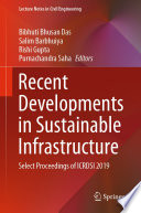 Recent Developments In Sustainable Infrastructure Book PDF