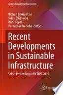 Recent Developments in Sustainable Infrastructure Book