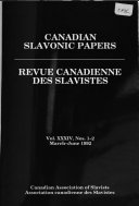 Canadian Slavonic Papers
