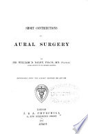 Short Contributions to Aural Surgery