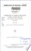 Nomination of William J. Burns