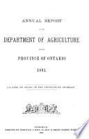 Annual Report of the Department of Agriculture and Food
