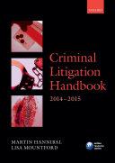 Criminal Litigation Handbook 2014 2015