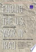 Ending The U S War In Iraq