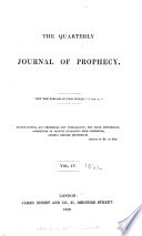 The Quarterly Journal of Prophecy Book PDF