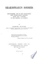 Shakespeare S Sonnets Reconsidered PDF