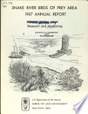 Snake River birds of prey area annual report