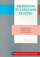 Validation in Language Testing
