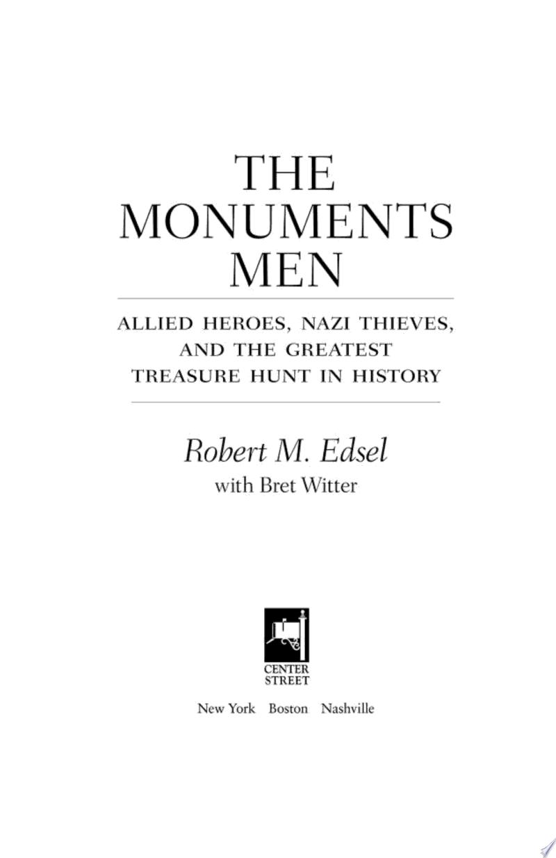 The Monuments Men banner backdrop