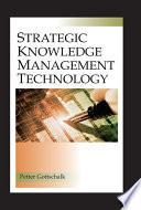 Strategic Knowledge Management Technology Book
