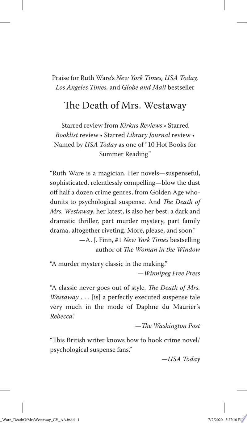 The Death of Mrs. Westaway image