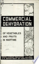 Commercial Dehydration of Vegetables and Fruits in Wartime