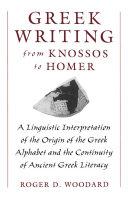 Greek Writing from Knossos to Homer [Pdf/ePub] eBook